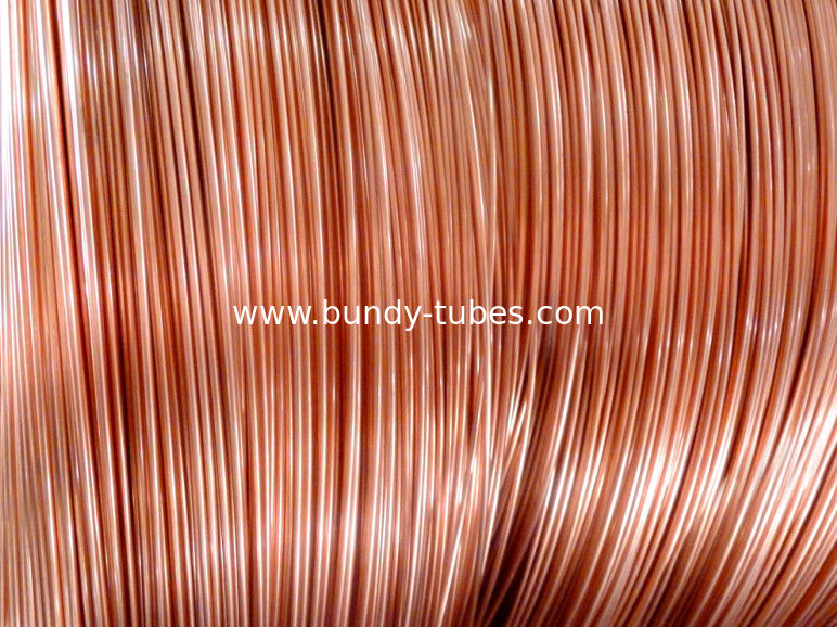 Soft Copper Coated Bundy Tube For Wire-tube Condenser , Evaporators