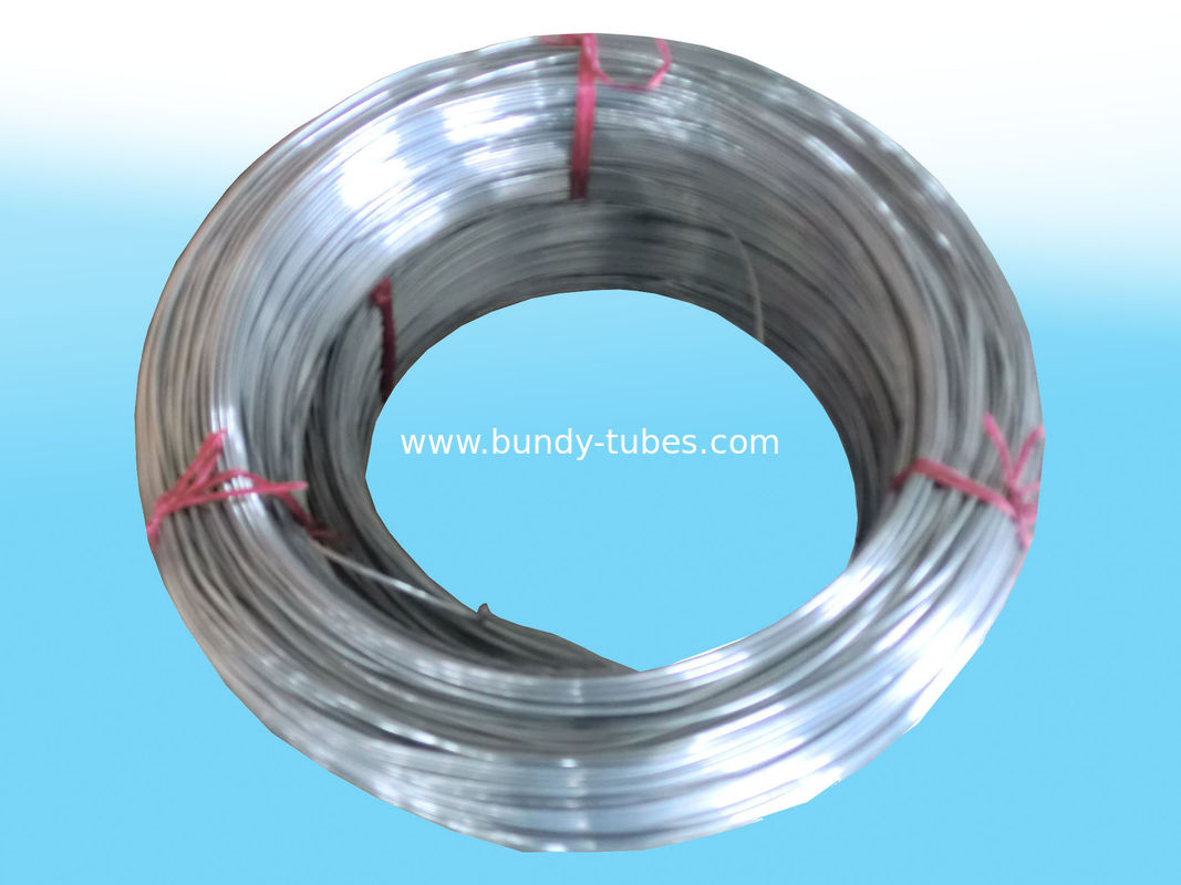 Hot Zinc Coated Galvanized Bundy Tube For Refrigeration System 4.2mm × 0.5mm