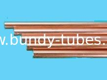 Good Plasticity Copper Coated Double Wall Bundy Tube 25% Elongation