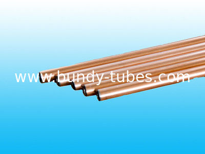 High Intensity Double Wall Bundy Tube 8 * 1mm / Welded Copper Tube