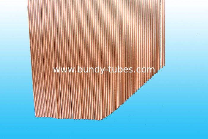 Copper Coated Double Wall Bundy Tube , Low Carbon Steel Strip