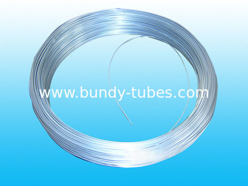 Low Carbon Steel Bundy Pipe , Galvanized Tubes For Freezer 8 * 0.7 mm