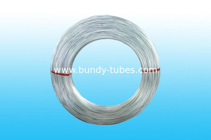 Coating Zn Hot Galvanized Bundy Pipe For Refrigerator 4 * 0.5 mm