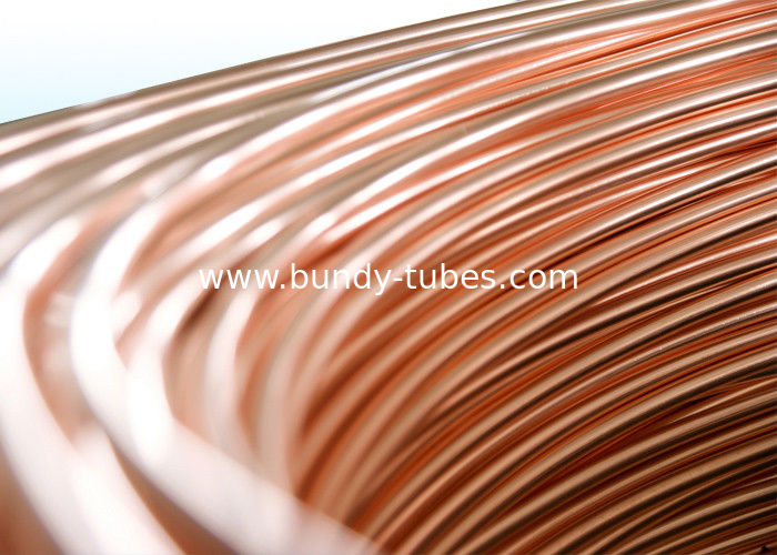 Steel Copper Coated Bundy Tubes / Plating Copper Pipe 4mm X 0.65 mm